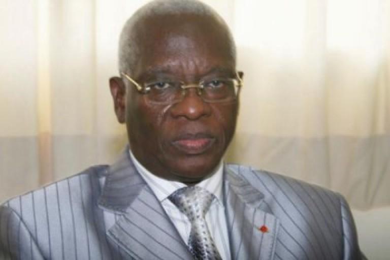 Aboudramane Sangaré lors du visite à la résidence de Laurent Gbagbo