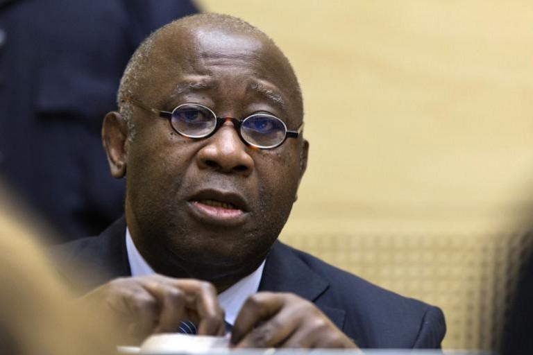 Laurent Gbagbo lors de son procès à la CPI