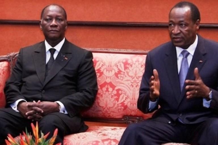 Blaise Compaoré et Alassane Ouattara