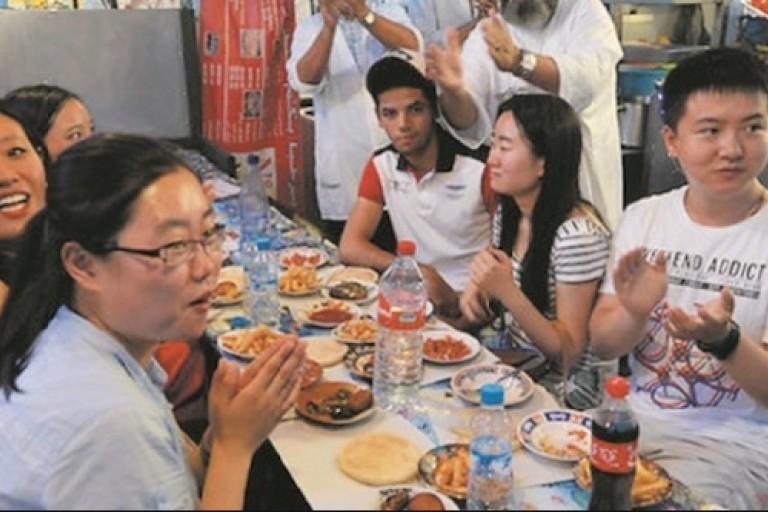 Des touristes chinois au Maroc