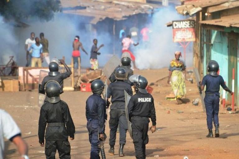 Des manifestations en Guinée