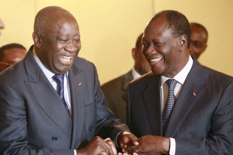 Image result for laurent gbagbo et alassane ouattara