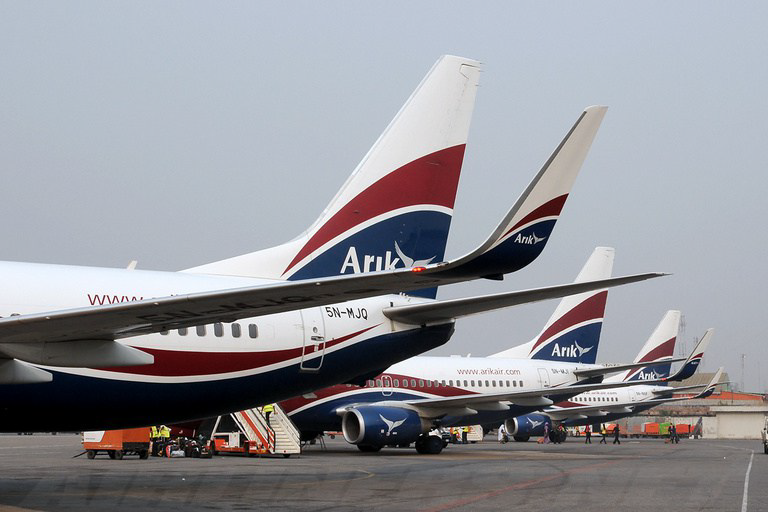 Arik Air , la flotte
