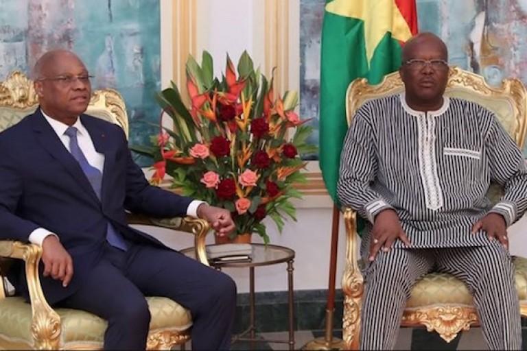 Jean-Claude Brou chez le président Roch Kboré