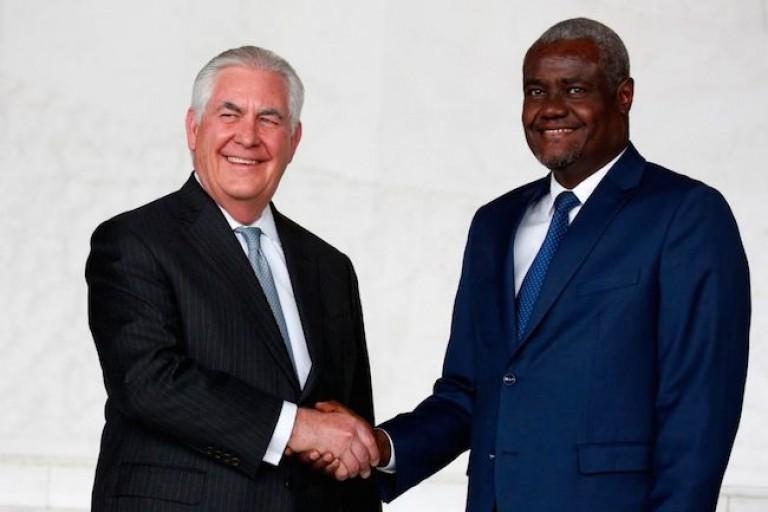 Moussa Faki et le secrétaire d'Etat américain