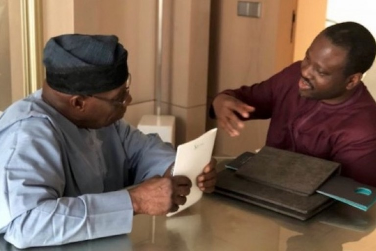 Rencontre entre Olusegun Obasanjo et Guillaume Soro à Abidjan