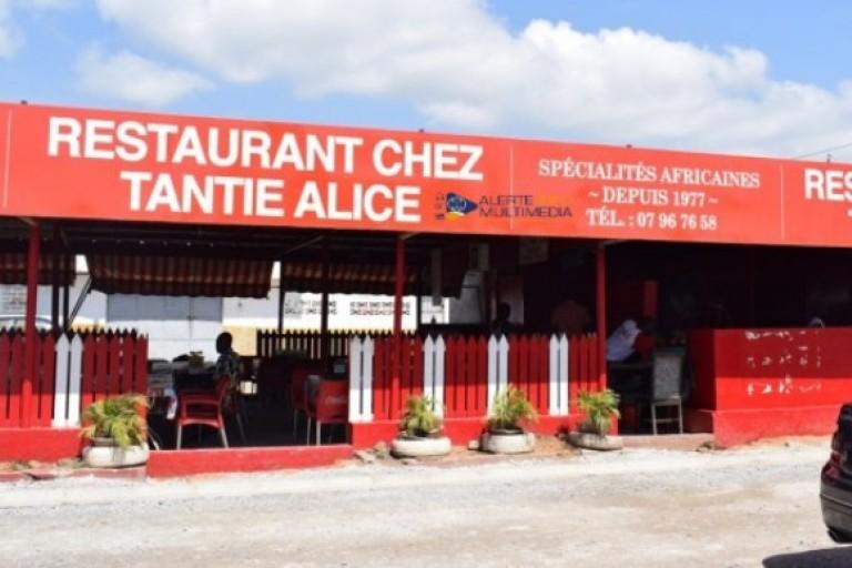 Tantie Alice, restauratrice, Restaurant Tantie Alice, Chez tante Alice Abidjan