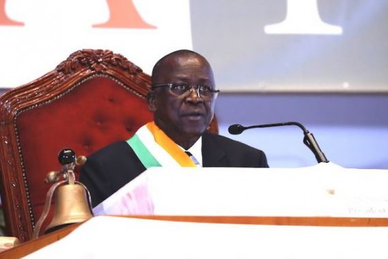 Jeannot Ahoussou-Kouadio, président du Sénat