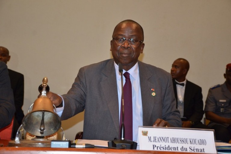 Jeannot Ahoussou, président du Senat ivoirien