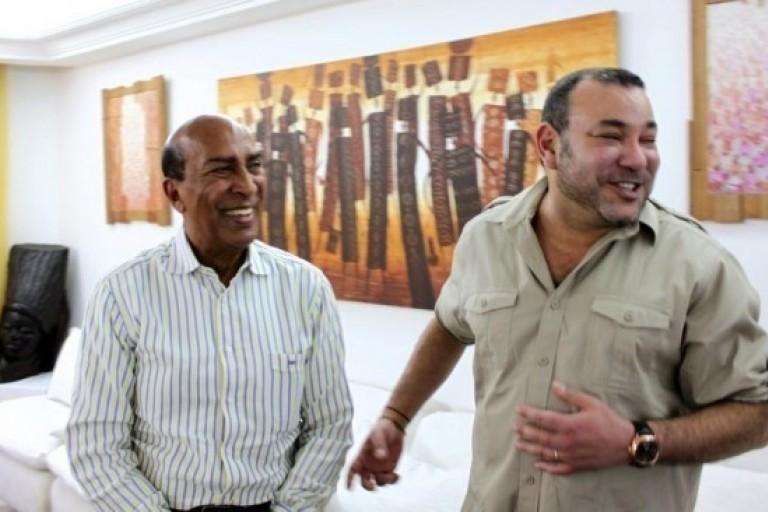 Georges Ouegnin reçoit le roi Mohammed VI à son domicile à Abidjan
