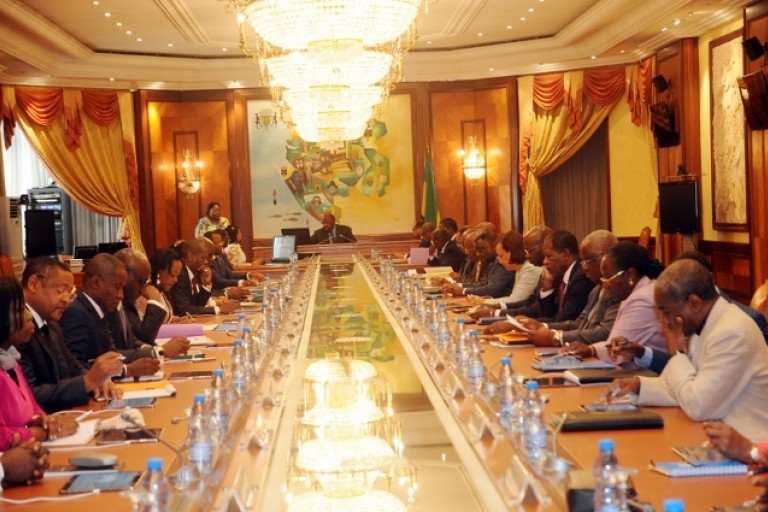 Le Gabon conseil des ministres