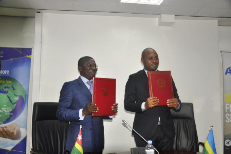 Rwanda :  accords bilatéraux Jean de Dieu Uwihanganye et Ninsao GNOFAM
