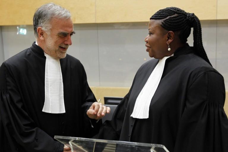 Fatou Bensouda et Luis Moreno Ocampo