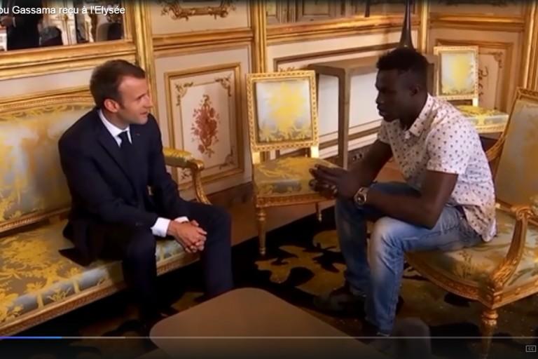 Macron a reçu Mamoudou Gassama à l'Elysée