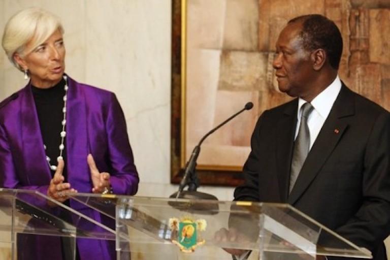 Christine Lagarde (FMI) et Alassane Ouattara