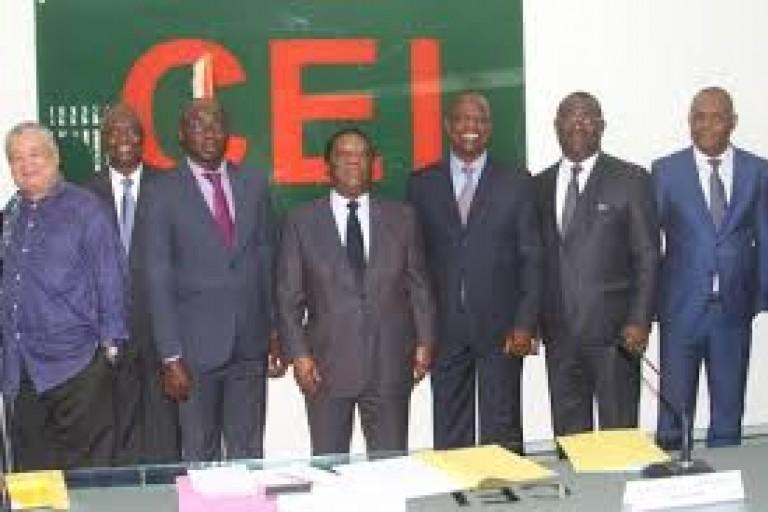 Les dirigeants de la CEI