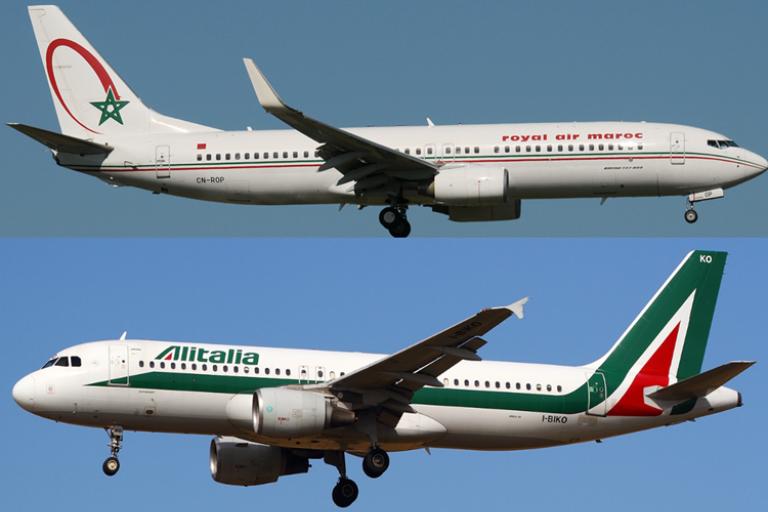 Royal Air Maroc, RAM et la compagnie italienne, Alitalia ont signé un accord de partage de code