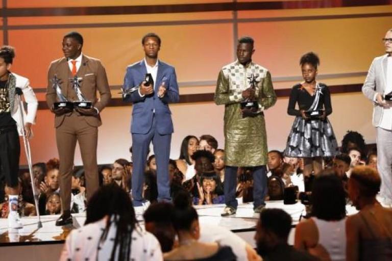 Mamoudou Gassama récompensé d'un BET Award aux Etats-Unis