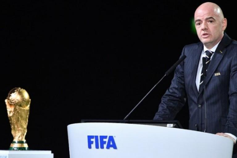 Gianni Infantino, président de la FIFA. Le Mondial 2026 attribué à la liste