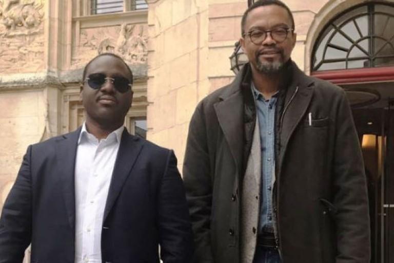 Guillaume Soro et son conseiller Franklin Nyamsi