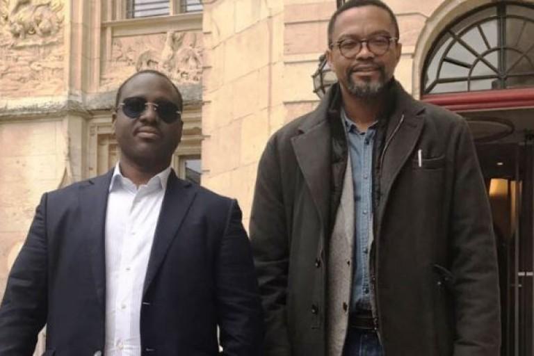 Guillaume Soro et son collaborateur Franklin Nyamsi