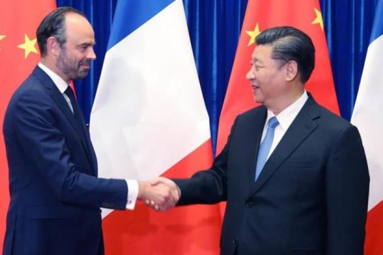 LE président de la Chine, Xi Jinping et le Premier ministre français Edouard Philippe