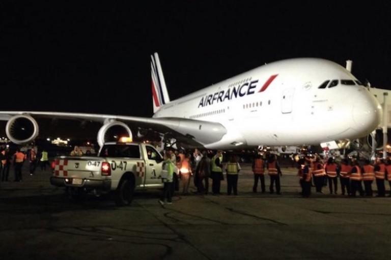 Un avion d'Air France à l'Aéroport FHB d'Abidjan