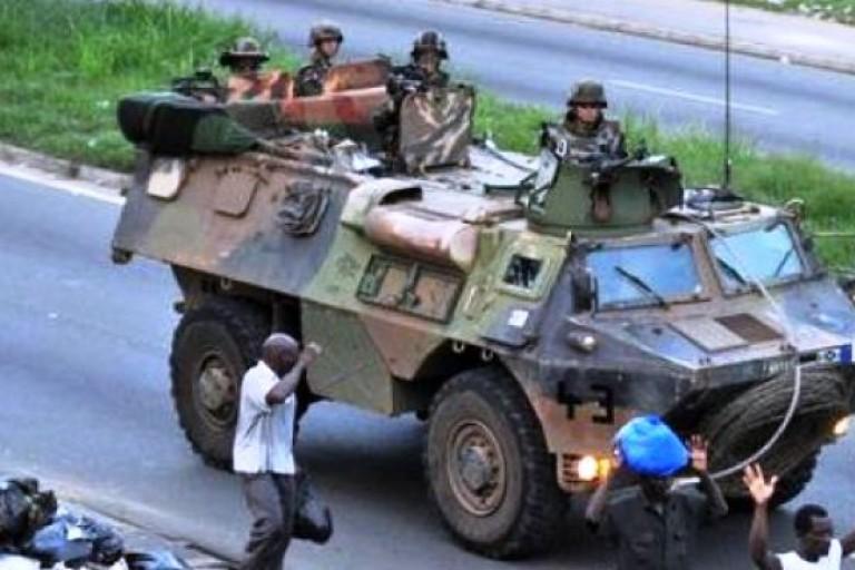 Des soldats français empêchés de faire des manoeuvres militaires