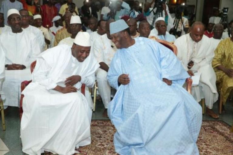 Alassane Ouattara et Gon Coulibaly en pèlerinage à la Mecque