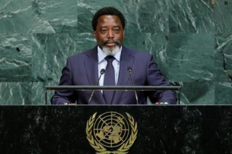 Joseph Kabila prononçant son discours à la tribune de l'ONU