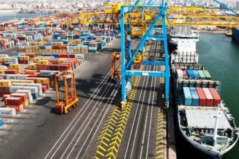 Le Port de Casablanca au Maroc