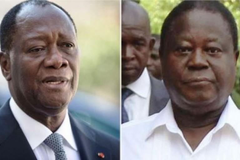 Alassane Ouattara et Henri Konan Bédié à Paris pour le Prix Houphouët-Boigny