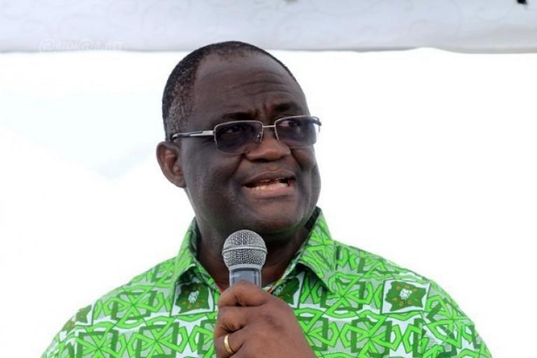 Le Pr Maurice Kakou Guikahué, SE du PDCI, en plein discours