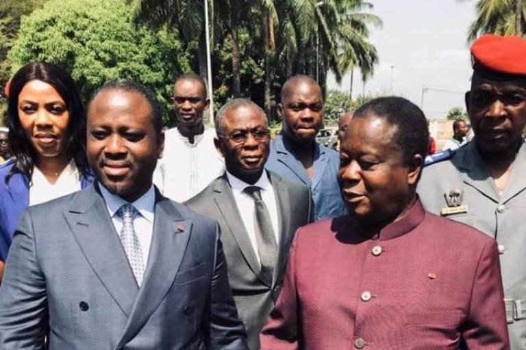 Guillaume Soro et Henri Konan Bédié à Daoukro