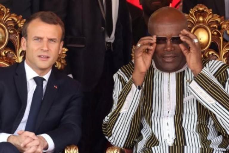 Macron et  Rock Kaboré, parlent de la lutte contre les djihadistes