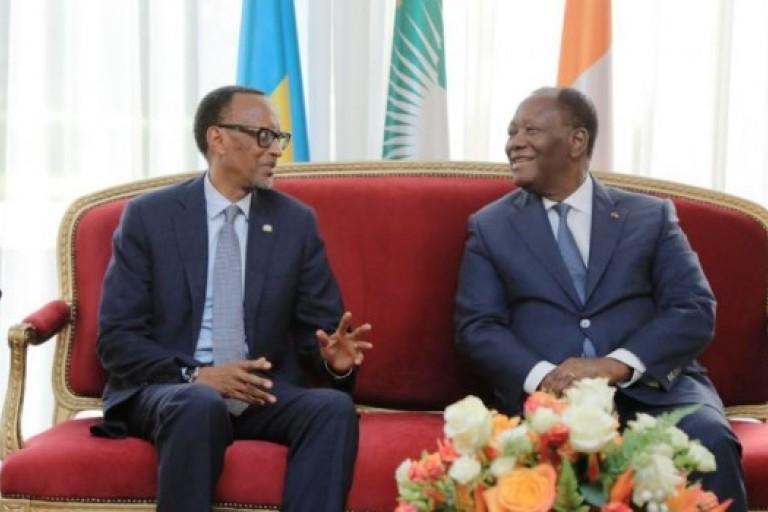 Alassane Ouattara et Paul Kagamé signent des accords de coopération