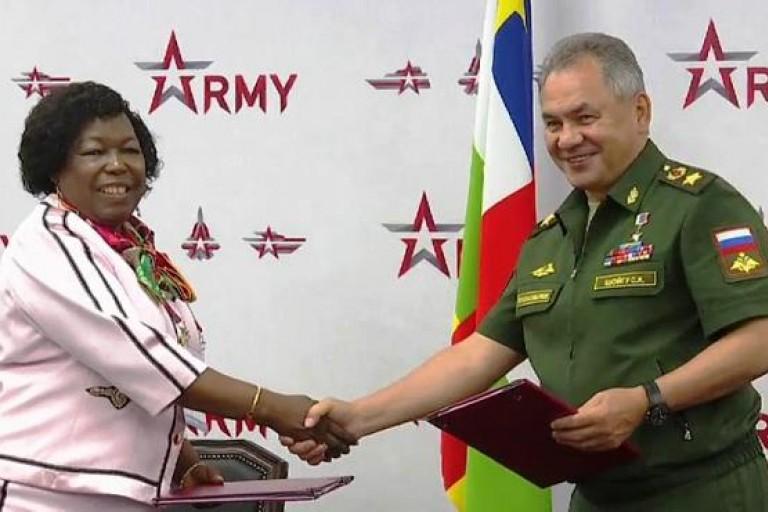 Signature d'une coopération militaire entre la Russie et la Centrafrique