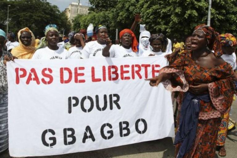 Manifestation contre la libération de Laurent Gbagbo