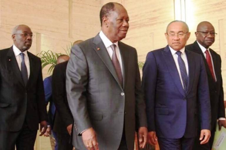 Alassane Ouattara et Ahmad Ahmad, Tractations autour de la CAN 2021