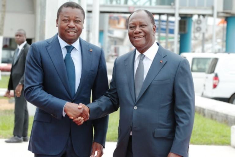 Faure Gnassingbé en visite chez Alassane Ouattara