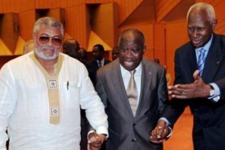 JerryRawlings, Laurent Gbagbo et Abdou Diouf