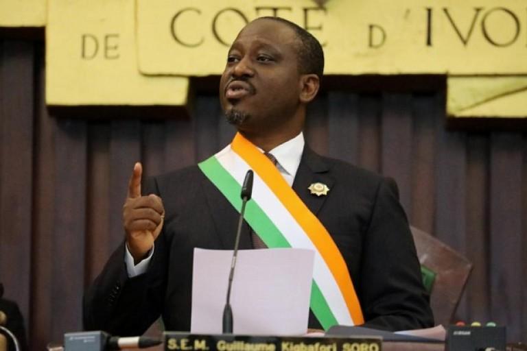 Guillaume Soro, le jour de sa démission de la Présidence de l'Assemblée nationale