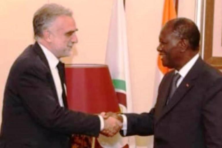 Rencontre à Abidjan entre Alassane Ouattara et Luis Moreno Ocampo