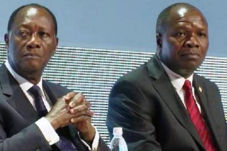 Mabri Toikeusse, à droite, veut conserver d'excellentes relations avec le Président Alassane Ouattara