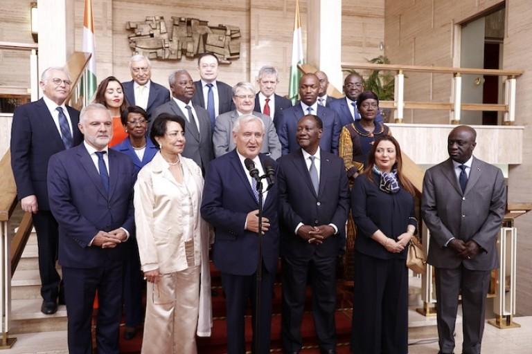 Alassane Ouattara rencontre l'ex-PM français