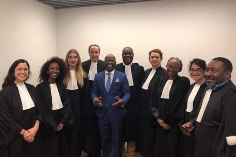 Charles Blé Goudé et ses avocats