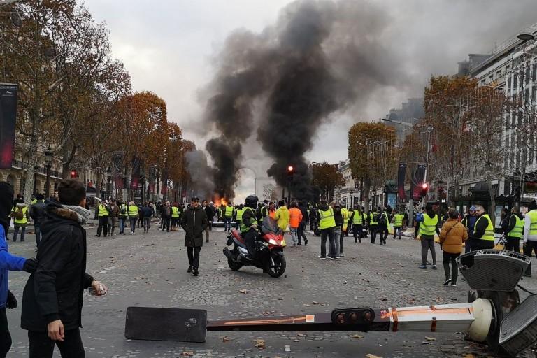 Violentes manifestations des gilets jaunes en marge de la 18e journée