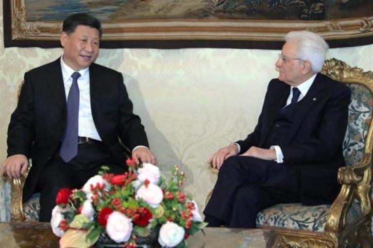 Xi Jinping - Sergio Mattarella pour l'essor de la relation sino-italienne