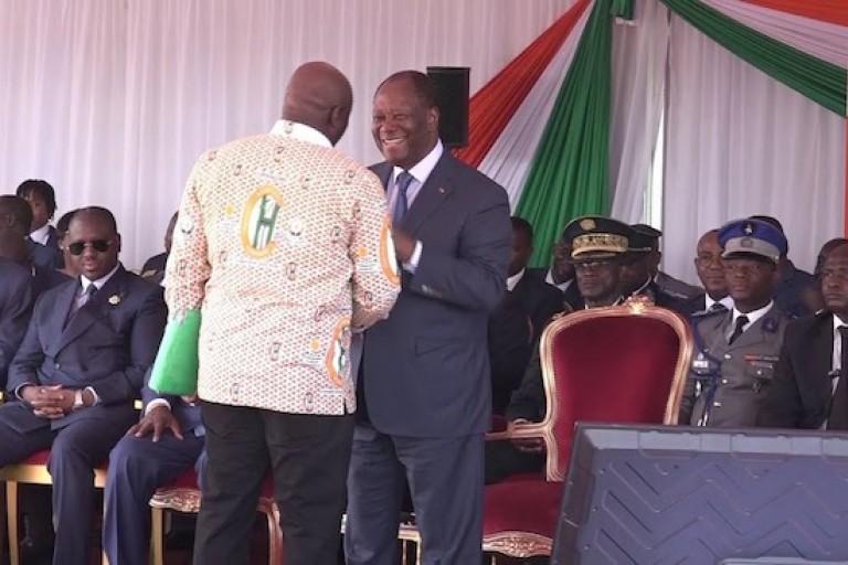 Alassane Ouattara et les travailleurs