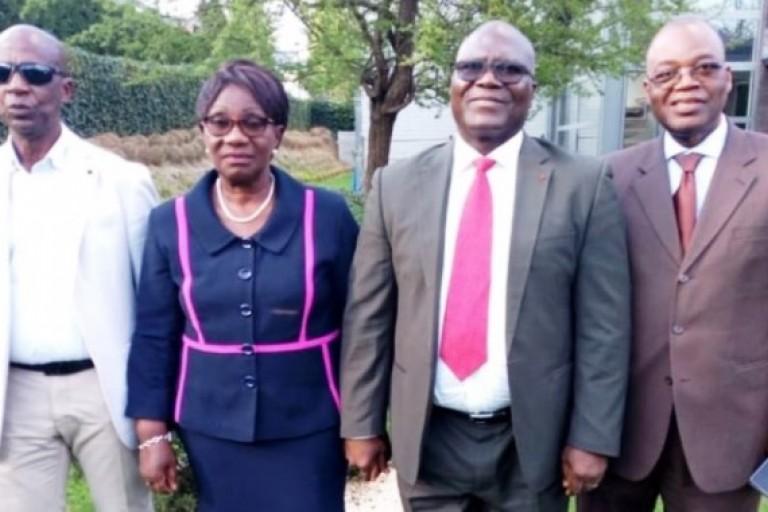 Amani N'Guessan Michel en visite chez Gbagbo